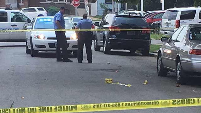 Three people were shot in the 3400 block of Montana Wednesday afternoon. Credit: KMOV