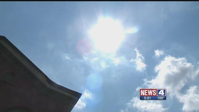 The sun beating down on a hot summer day. Credit: KMOV