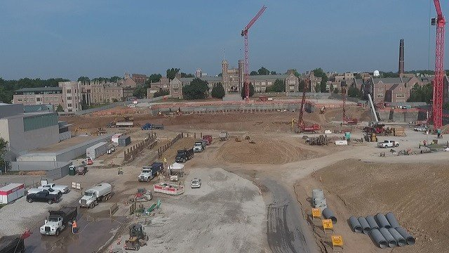 The eastern end of the campus is undergoing a $360 million project covering 18 acres. (Credit: KMOV)