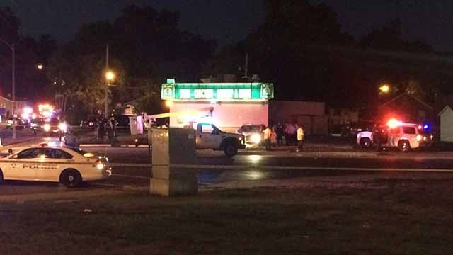 An officer-involved shooting happened in the 6100 block of Laura Thursday night. Credit: KMOV
