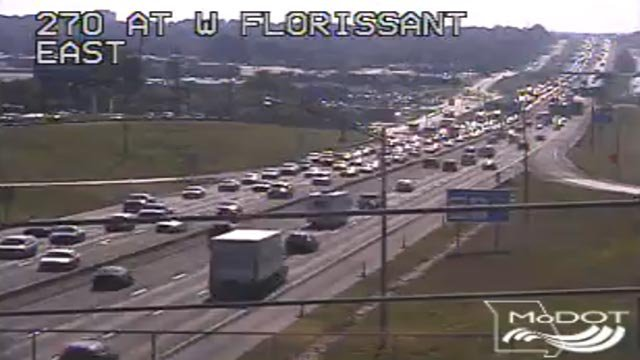 Traffic on I-270 near Florissant Friday morning (Credit: KMOV)