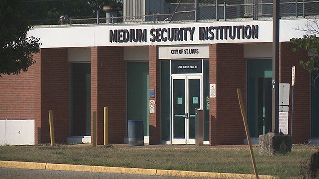 Saturday was the second night of intense protests outside the Medium Security Institution, better known as The Workhouse. (Credit: KMOV)