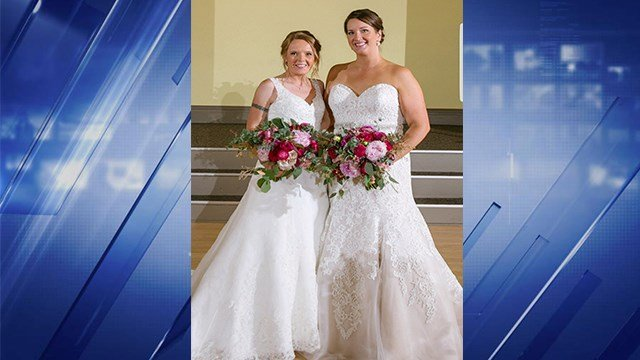 Both dresses were stolen from the couple's car in Benton Park. (Credit: Two White Doors Photography)