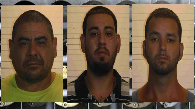 Molina, Hernandez and Miniex are accused of beating a father in St. Clair County on July 8 (Credit: St. Clair County Sheriff's Department)