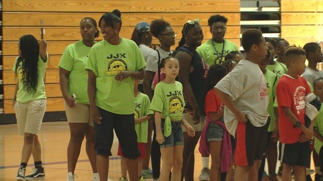 Hundreds of students got a chance to learn more about track-and-field during the Jackie Joyner-Kersee Annual Field Day. (Credit: KMOV)