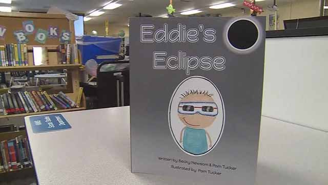 "Becky Newsom and Pam Tucker wrote ""Eddie's Eclipse"" to teach children about the upcoming solar eclipse. Credit: KMOV"