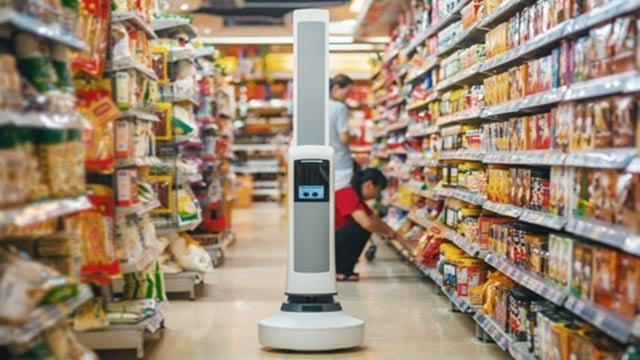 Tally, an aisle-roving robot, will be at select Schnucks stores (Credit: simberobotics.com)