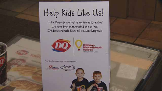 One dollar or more from every blizzard sold at local Dairy Queen stores on Thursday will be donated to Children's Miracle Network Hospitals. Credit: KMOV