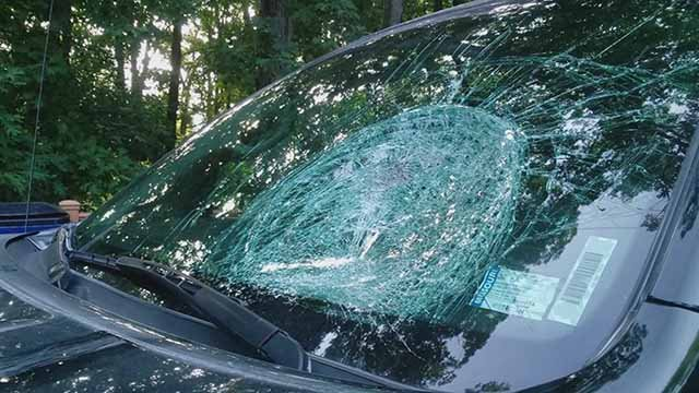 Police say someone has been throwing frozen water bottles at cars in St. Charles Co. Credit: KMOV