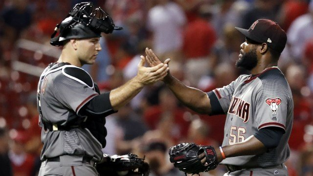 Diamondbacks Pitcher Takes Come-backer Off the Head