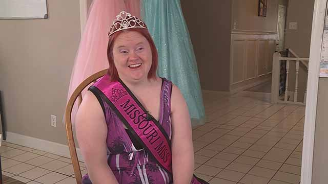 Stephanee Corcoran represents Mo. in 'Miss Amazing Pageant' for the disabled.  Credit: KMOV