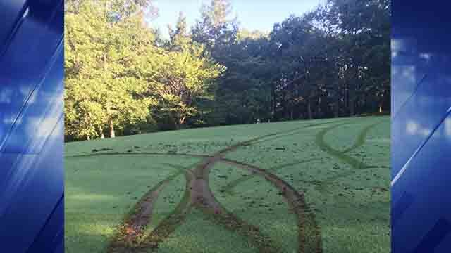 Vandals damaged several holes at Raintree Country Club on Friday, July 28, 2017 (Credit: Jefferson County Sheriff's Office)