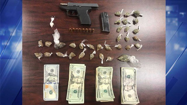 A suspect was arrested after allegedly dealing drugs near a Metrolink station in St. Louis County on Saturday. (Credit: St. Louis County PD)