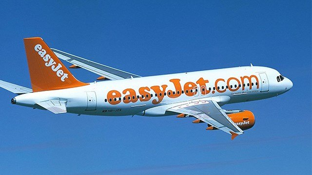 EasyJet Airbus A319 jet in flight (AP Images)