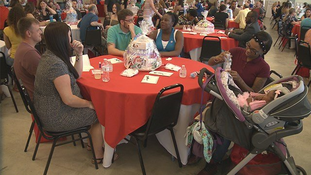 New and expecting military moms and wives were in for a special treat at Jefferson Barracks on Sunday. (Credit: KMOV)