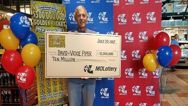 David Piper won $10 million on a Missouri Lottery Scratchers ticket (Credit: Missouri Lottery)