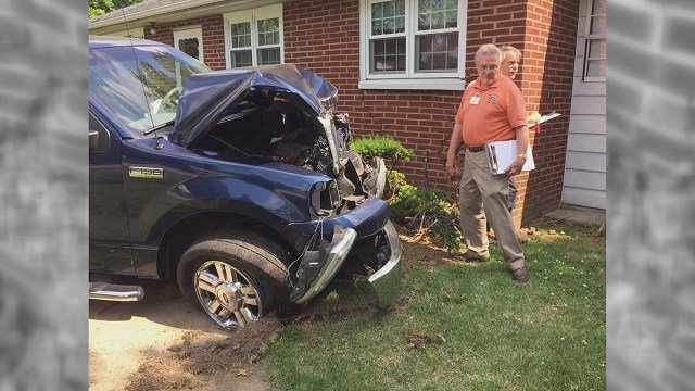 A Granite City family started a GoFundme after a drunk driver rammed into their home. (Credit: KMOV)