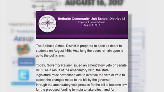 The superintendent of Bethalto schools says lack of funding from Springfield would force them to close. Credit: KMOV