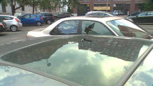 Downtown residents are upset over vandals throwing rocks at cars. Credit: KMOV