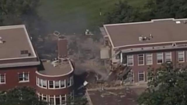 A school in Minneapolis collapsed Wednesday morning (Credit: CBS)