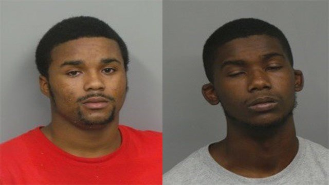 Malcolm Coleman, 19 (left) and Kaleb Davis (18) are being held in a St. Louis County jail following robbery. (Credit: Hazelwood Police Department)