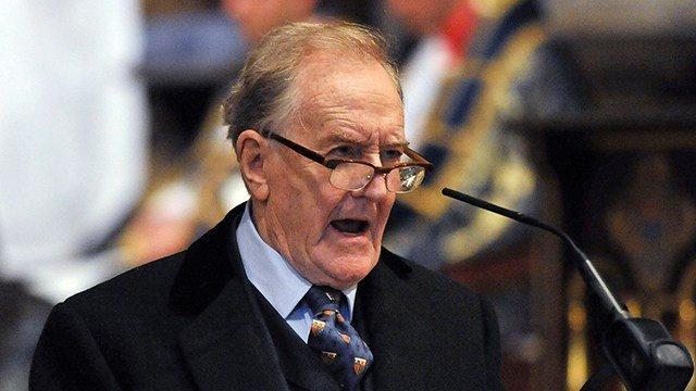 Robert Hardy, star of Harry Potter films. (Nick Ansell/PA File via AP)