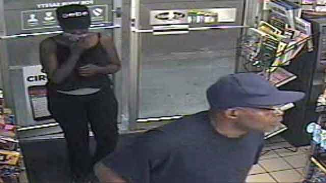 Police are searching for these two suspects who robbed a Circle K store on August 1, 2017 (Credit: St. Louis Metropolitan Police Department)