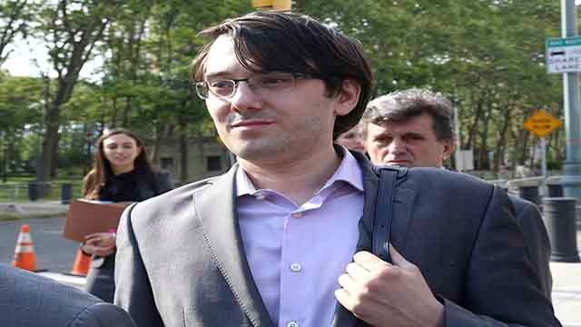 Martin Shkreli departs federal court in Brooklyn on Friday, June 30, 2017, in New York. (Photo by Greg Allen/Invision/AP)