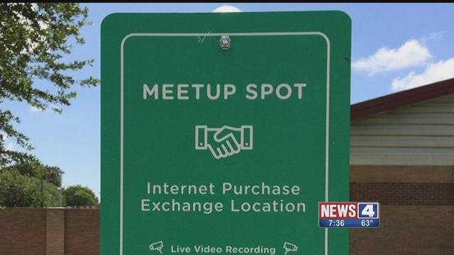 "O'Fallon, Mo. police are creating a ""safe meetup"" spot for online transactions (Credit: KMOV)"