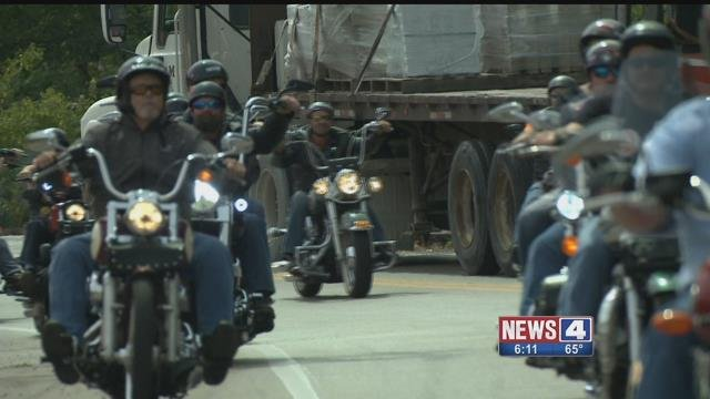 Bikers in the Rally Against Heroin ride raised money to fight heroin addiction (Credit: KMOV)