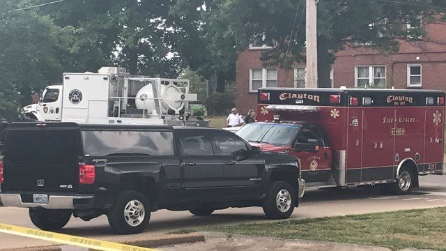 The St. Louis Regional Bomb Squad is investigating a suspicious package leftat Concordia Seminary campus in Clayton, Mo.