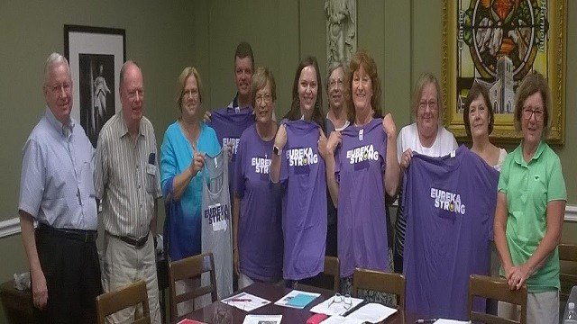 An Eureka resident is being praised for custom shirts she created to benefit residents affected by the 2017 flood disaster. (Credit: Creative Entourage)