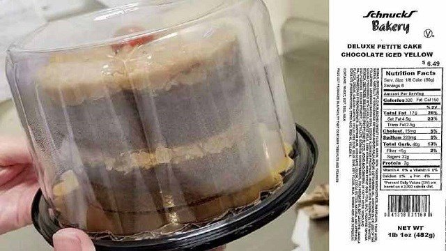 Schnucks Bakery is issuing an allergy warning on 13 german chocolate cakes sold at 12 Schnucks retail stores. (Credit: Schnucks)