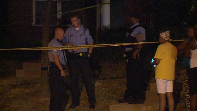 The scene after a teenager was shot in the 4500 block of McMillan Wednesday (Credit: KMOV)
