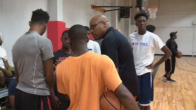 A former pro-basketball player is using shooting hoops on the court as a way to reach youth in North St. Louis. (Credit: KMOV)