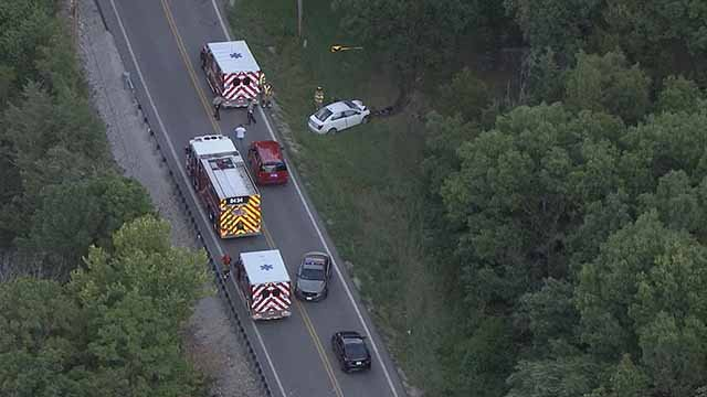 1 person died in a wreck in High Ridge Wednesday afternoon. Credit: KMOV