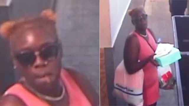 Police search for accused shoplifter at-large. (Credit: KMOV)