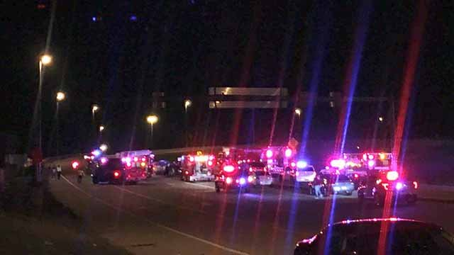3 children were killed in an accident near the entrance to the Stan Musial Veterans Memorial Bridge. Credit: KMOV