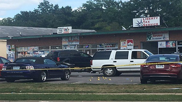 Police are investigating a quadruple shooting that occurred at 12310 Bellefontaine Road Saturday afternoon. (KMOV)