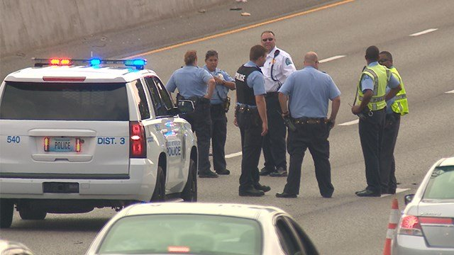 Police are investigating a shooting that occurred on southbound Interstate 55 and Gasconade Street Saturday evening. (KMOV)
