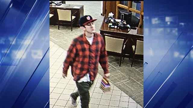 Police are searching for this man who allegedly robbed a Commerce Bank in Breckenridge Hills (Credit: Breckenridge Hills Police Department)