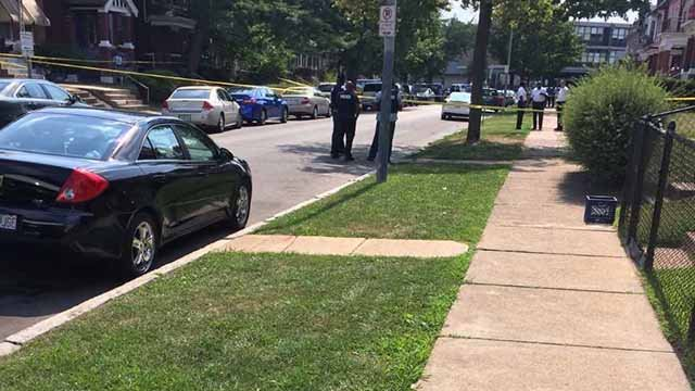 Police say a detective fired a shot at a drug suspect near the intersection of Athlone and Carter Tuesday afternoon. Credit: KMOV