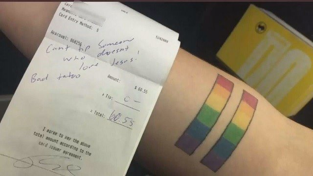 A waitress from Illinois is taking a stand after she says a family did not leave her a tip because of her tattoo. (Credit: KMOV)