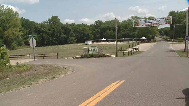 Arnold City Park is being prepped for the total solar eclipse. Credit: KMOV
