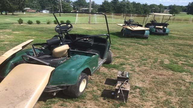As many as 10 carts have been damaged or abandoned around town in the last two months at the Shiloh Yorktown Golf Course. (Credit: KMOV)