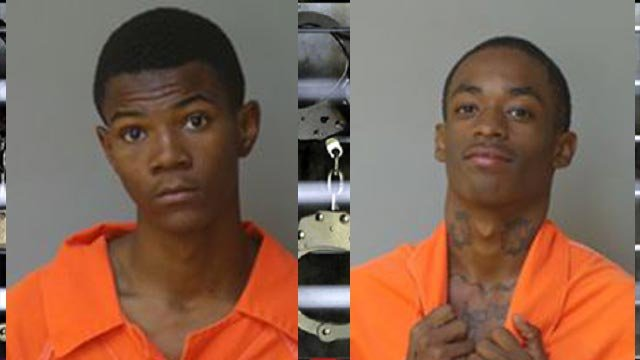 Toreyan Moore, 18, and Anthony Tyler, 17, are accused of armed robbery (Credit: Florissant Police)