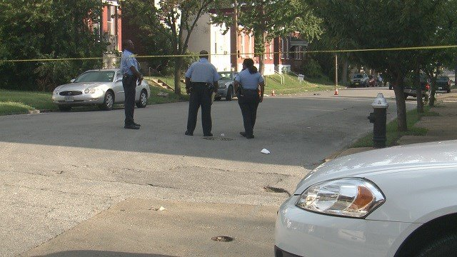 Homicide detectives are investigating after a 45-year-old man was shot in south St. Louis Thursday night. (Credit: KMOV)