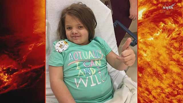 Ally Hennessey is battling a brain tumor. Credit: KMOV