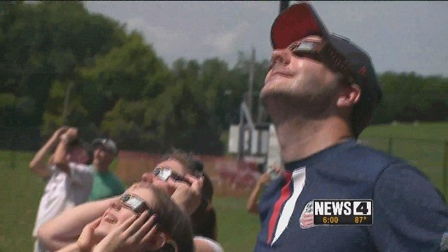 People traveled from far and wide to the St. Louis area to see the total solar eclipse. Credit: KMOV