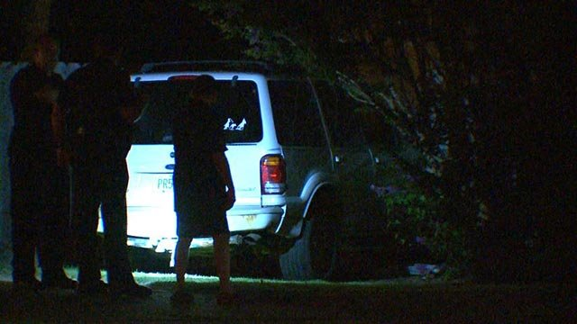 A stolen vehicle crashed into a home in Hazelwood overnight (Credit: KMOV)